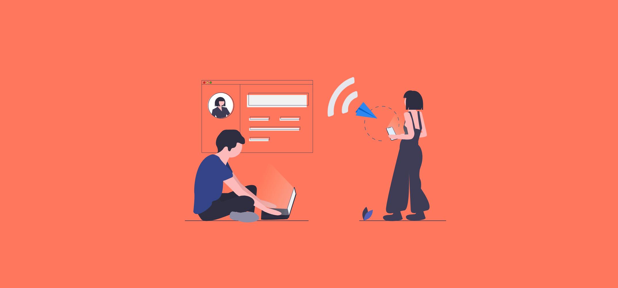 Отправка сообщения через платформу для связи с клиентами